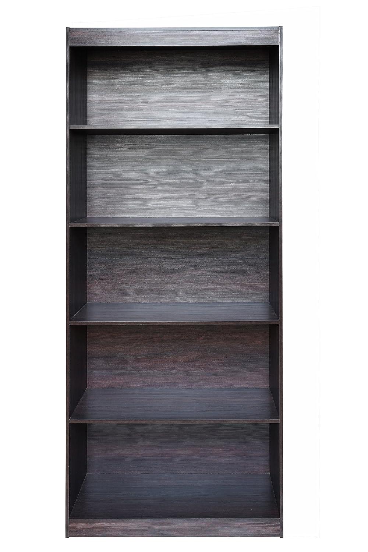 Amazon.com: Techni MOBILI Home 5 Shelf Bookcase, Madera ...