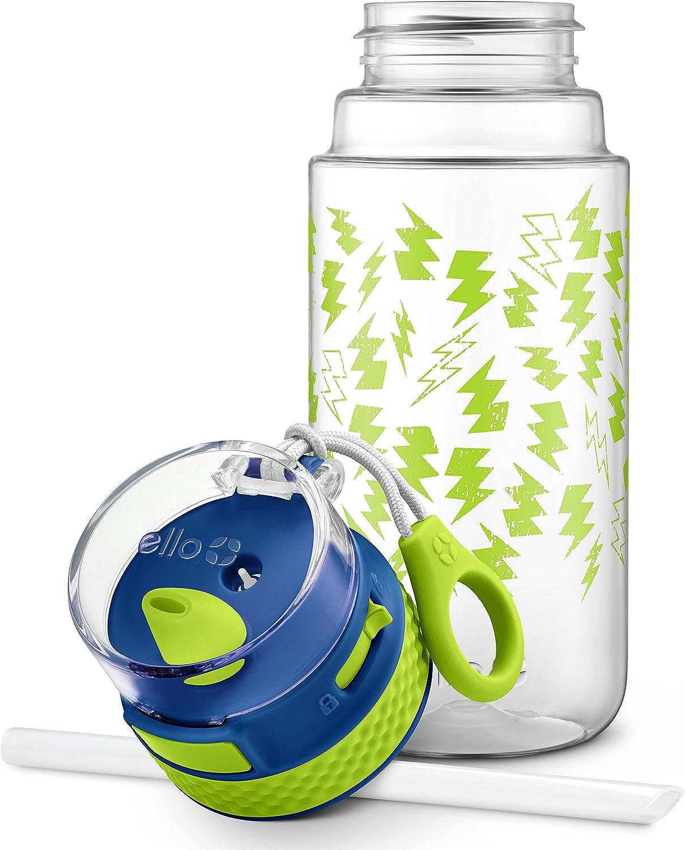 Blue//Grey 16 oz. Ello Stratus Tritan Plastic Water Bottle
