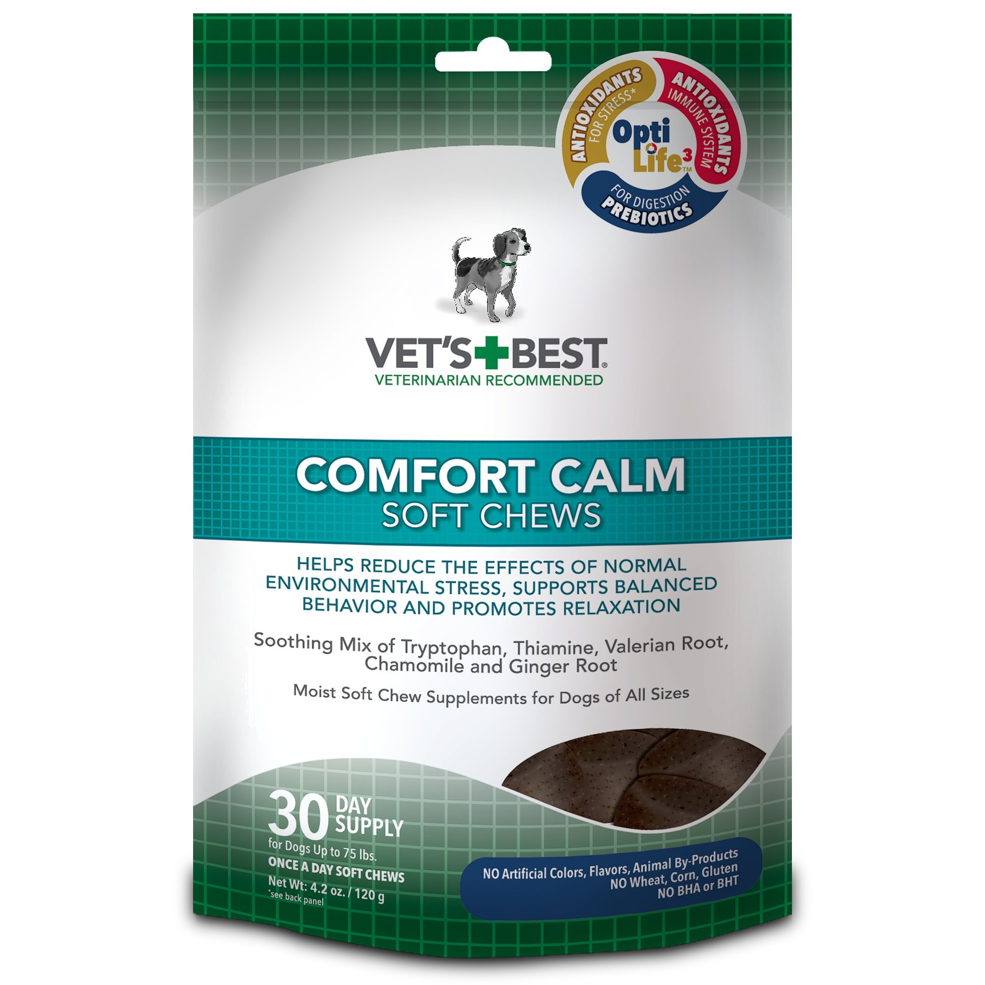 Vet's Best Comfort Calm Calming Soft Chews Dog Supplements 30 Day Supply 1 pack
