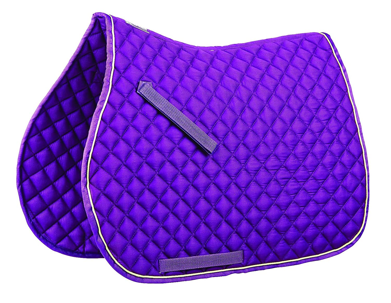 PURPLE LIME Full PURPLE LIME Full ROMA CONTRAST PIPING ALL PURPOSE SADDLE PAD
