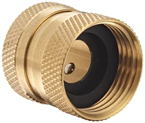 Dixon DGH7C Brass Quick-Connect Fitting, Garden Hose Female Coupler, 200 psi Pressure