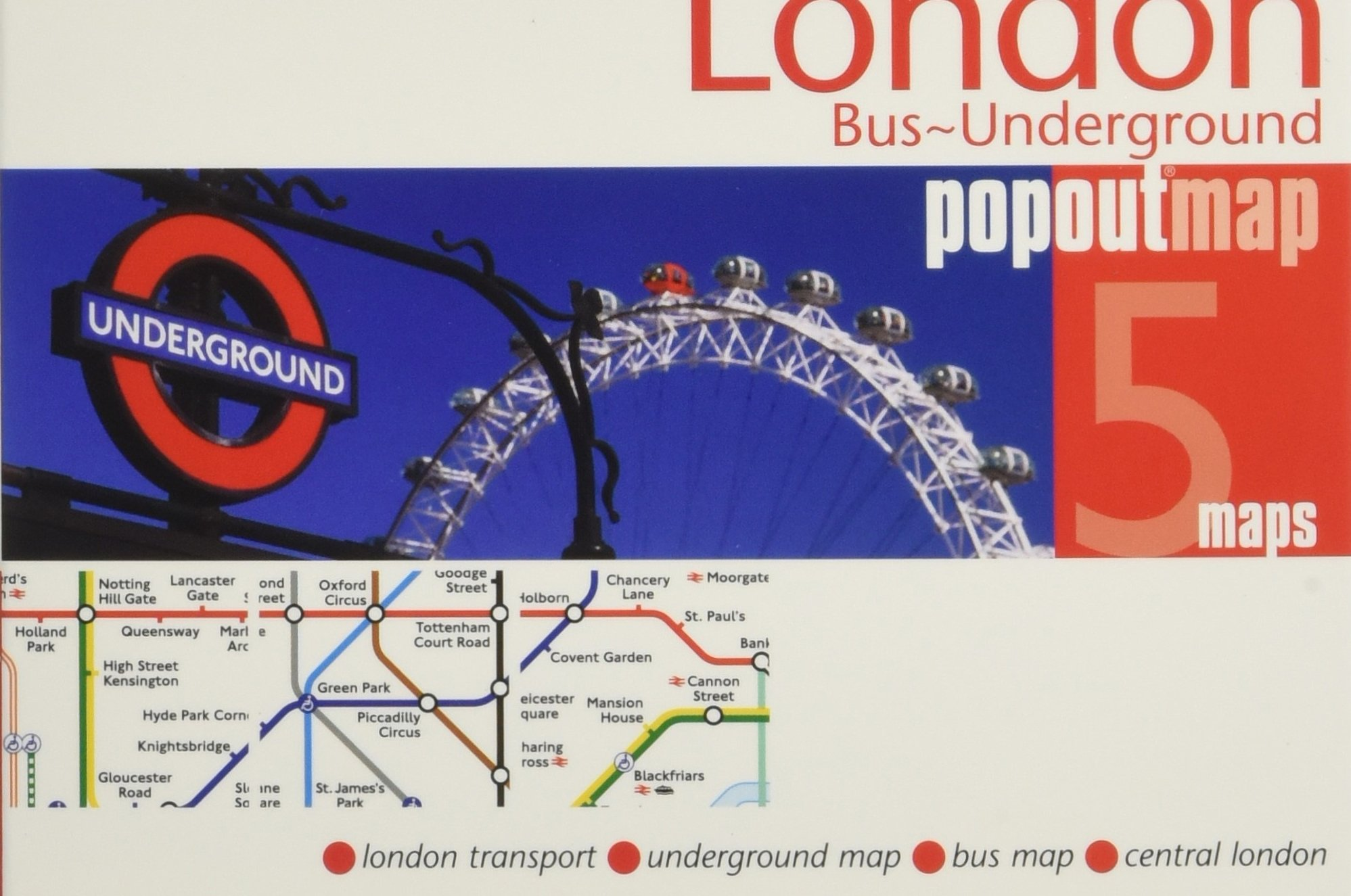 London City Bus Map.London Bus Underground Popout Map Popout Maps Popout Maps