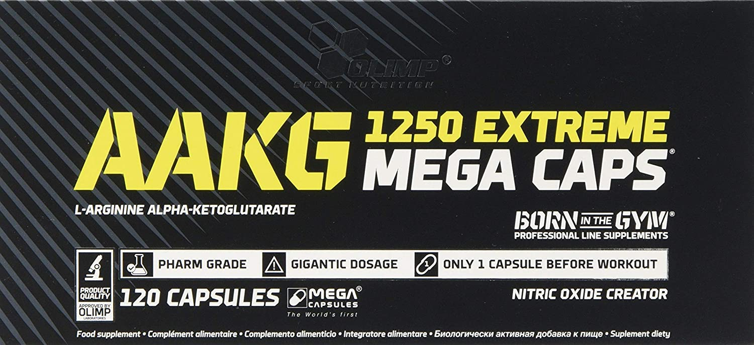 c048a0b7f31 Olimp AAKG Extreme Mega Capsules - Pack of 120 Capsules: Amazon.co.uk:  Health & Personal Care