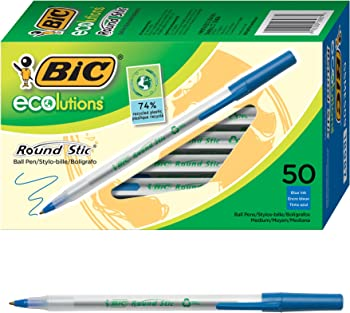 50-Count BIC Ecolutions Round Stic Ballpoint Pen