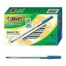 BIC Ecolutions Round Stic Ballpoint Pen, Medium Point (1.0mm), Blue, 50-Count