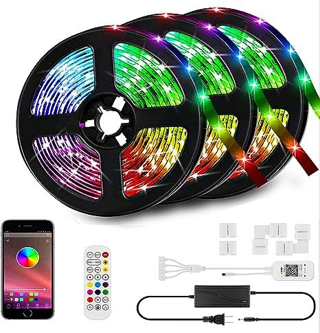 1-5m 5050 RGB LED Strip Light Kit Waterproof Bluetooth Phone Controll Remote