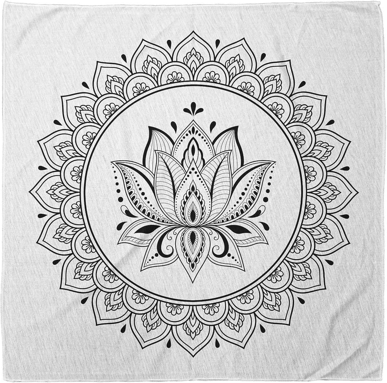Ambesonne Floral Blooms Bandana Printed Unisex Head Neck Tie Scarf Headband