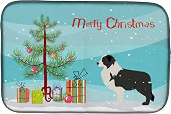 multicolor Caroline/'s Treasures BB1613CMT Christmas Tree and Border Collie Kitchen or Bath Mat 20x30 Carolines Treasures BB1613CMT Christmas Tree and Border Collie Kitchen or Bath Mat 20x30 20H x 30W