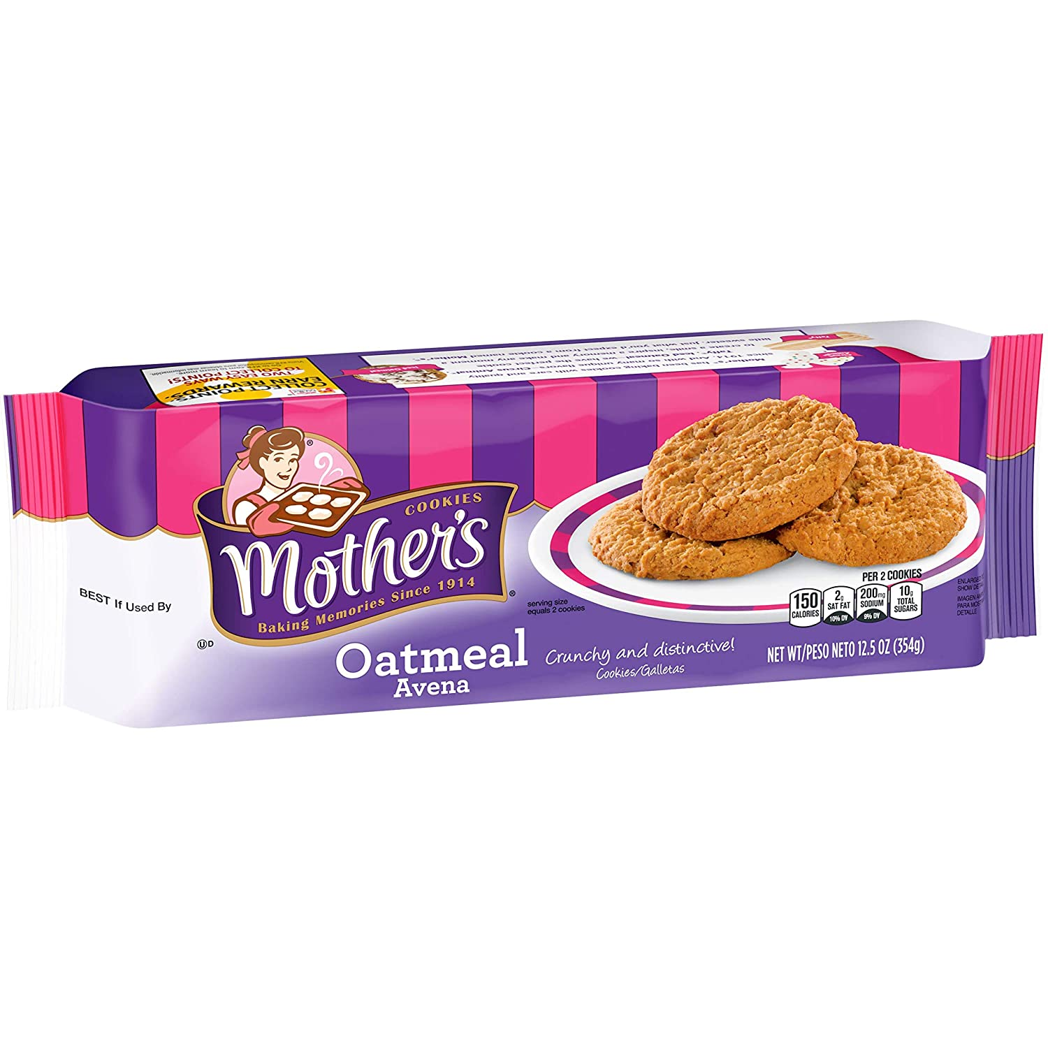 Mothers Cookies, Oatmeal, 12.5 oz Tray