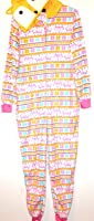 Body Candy Women's Fleece Fox Print 1 Piece Hooded Pajamas Dorm Sleeper