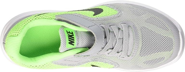 Nike Revolution 3 (PSV) - Zapatillas para niños, color Multicolor (VOLTAGE GREEN / BLCK WLF GRY VLT), talla 28.5: Amazon.es: Zapatos y complementos