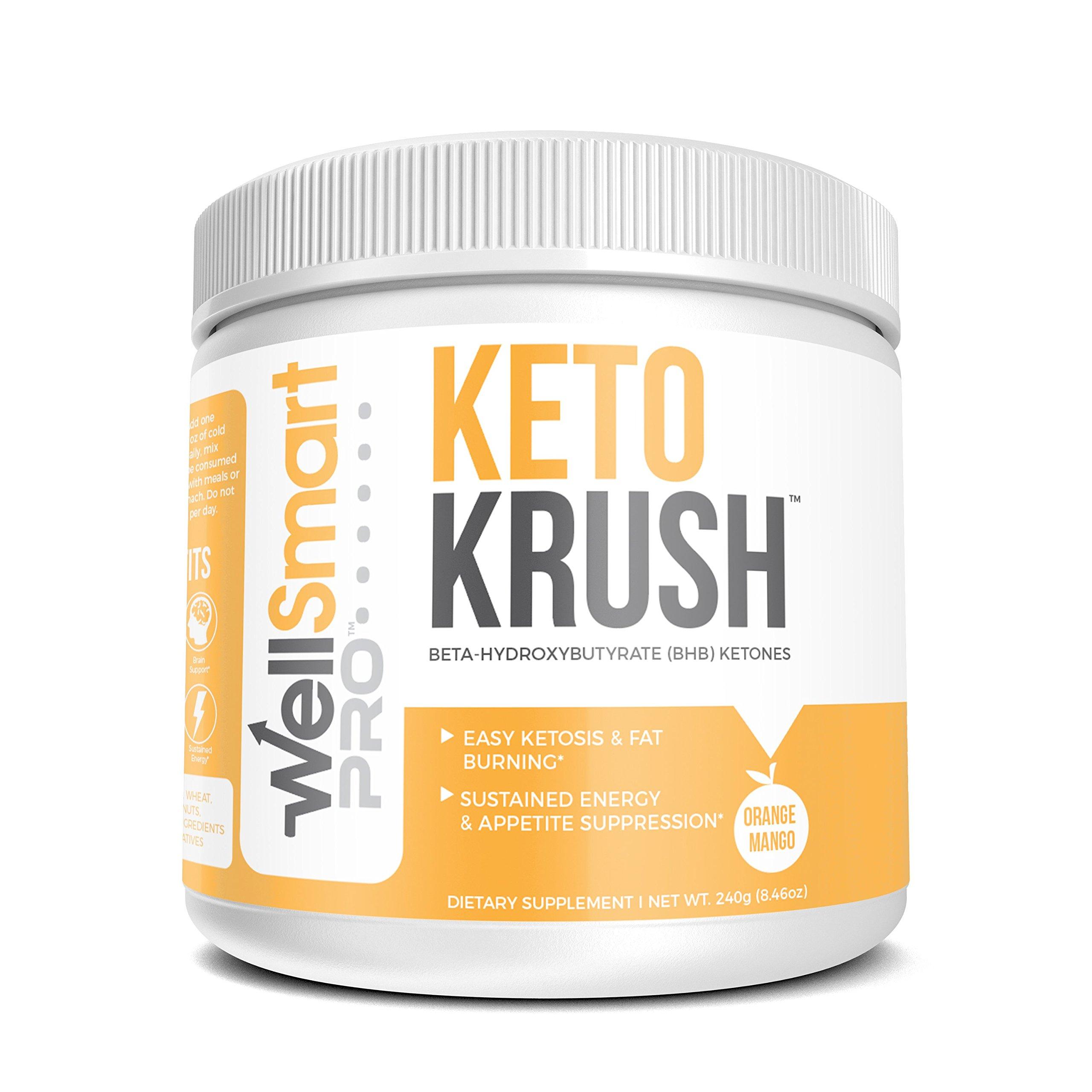 KETO KRUSH Keto Orange Mango Powder Supplement – Fast, Easy Ketosis – Organic Beta Hydroxybutyrate (BHB) Ketones – Ketogenic Diet Support, Energy Booster, Appetite Suppressant & Fat Burner