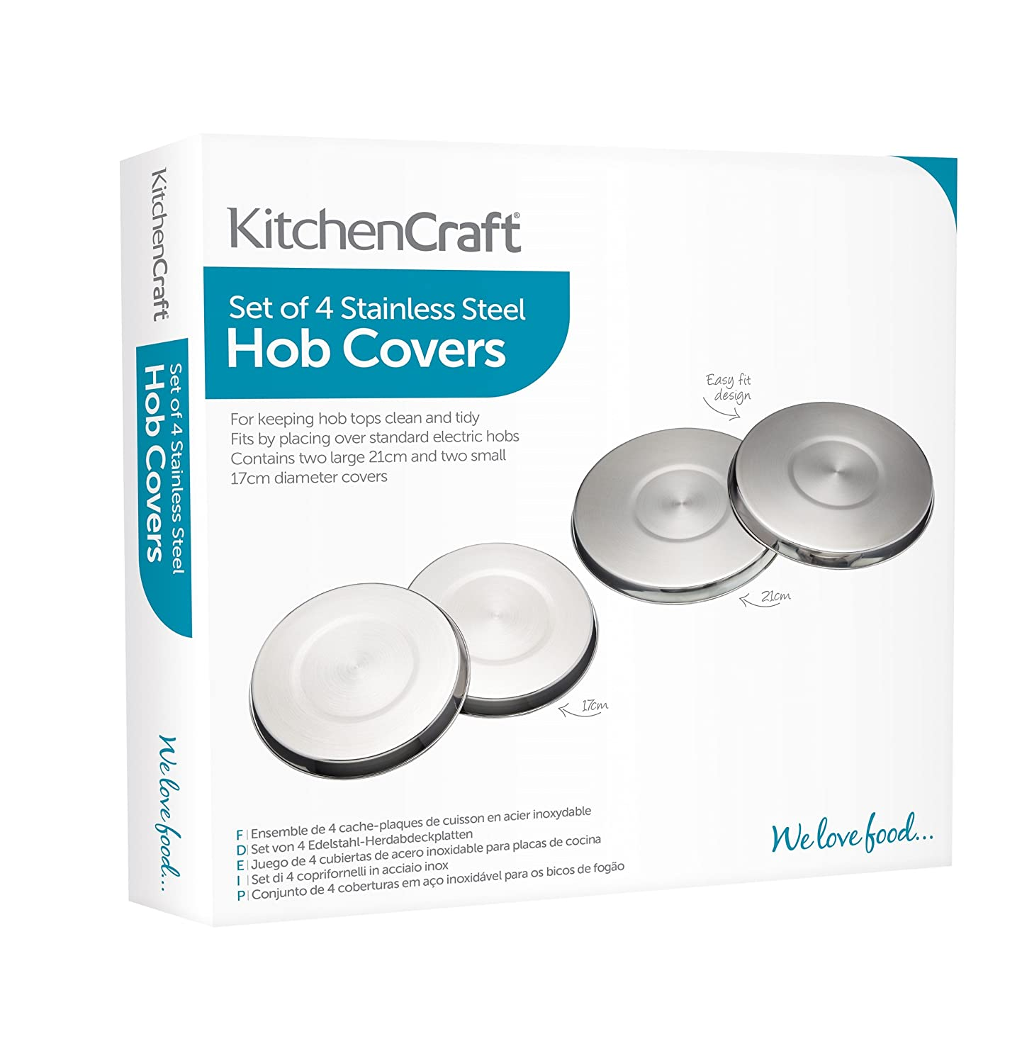 Amazon.com: Set Of 4 Stainless Steel Hob Cover: Food Savers: Kitchen & Dining