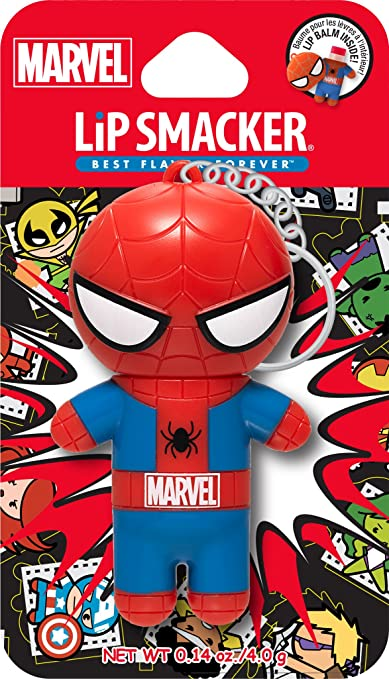 Amazon.com: Lip Smacker Marvel Super Hero Spiderman Lip Balm Amazing Pomegranate, 0.14 Ounce (Pack of 2): Beauty