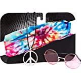 Zilo Novelties Hippie Costume Set for Women & Men. Kit Includes Sunglasses, Peace Sign Necklace & Headband to Make You The Hit of The Party
