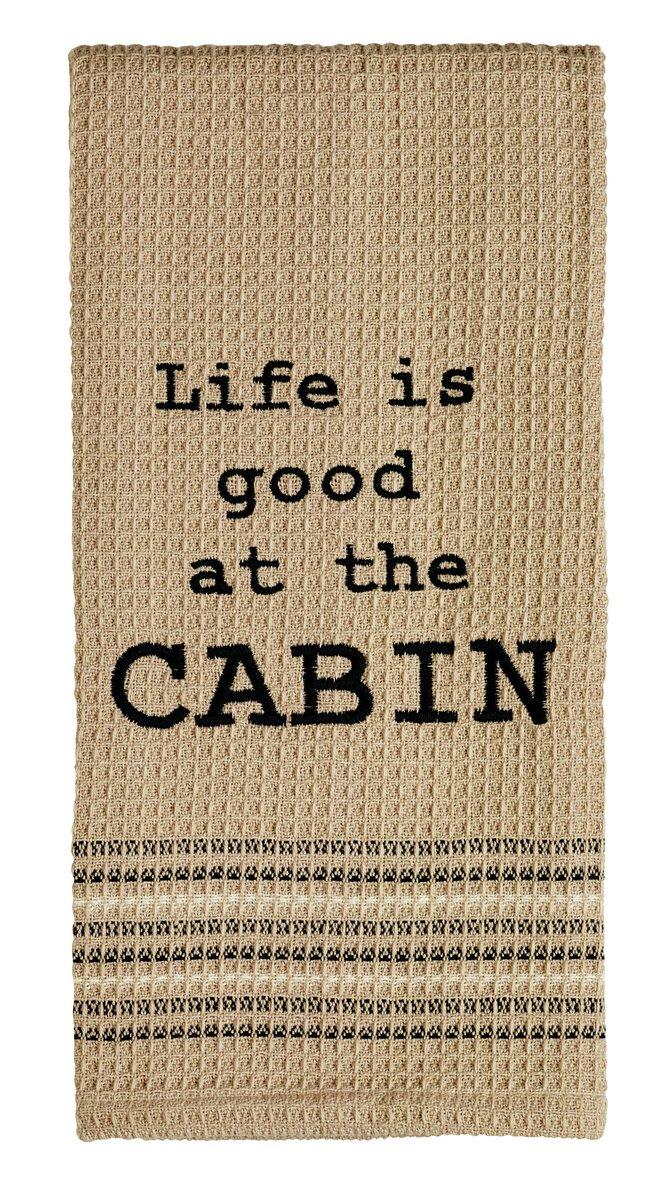 """At The Cabin"" Dishtowel - Set of 2"