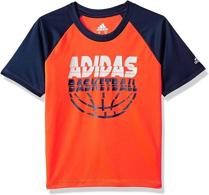 adidas Boys' Short Sleeve Moisture Wicking Raglan T Shirt