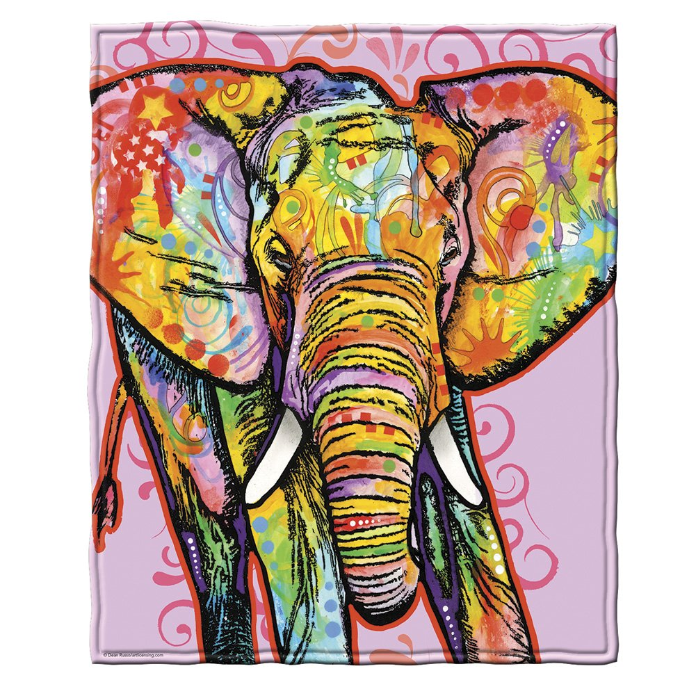 Dean Russo Elephant Fleece Throw Blanket
