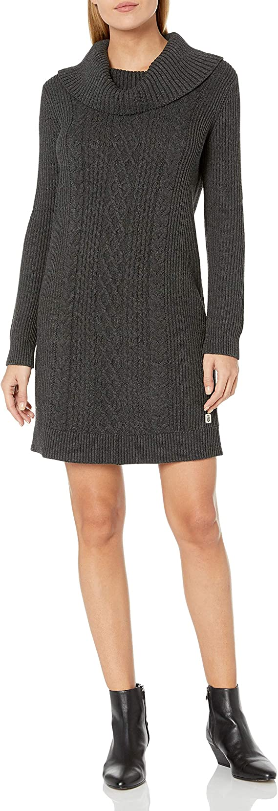 Tommy Hilfiger Women's Cowl neck Sweater Dress Long sleeve cute Sweater dress for women