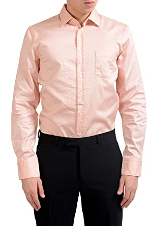 """0143f065 Image Unavailable. Image not available for. Color: Hugo Boss Orange Slim  Fit Eslime_1"""" Men's Long Sleeve Casual Shirt ..."""