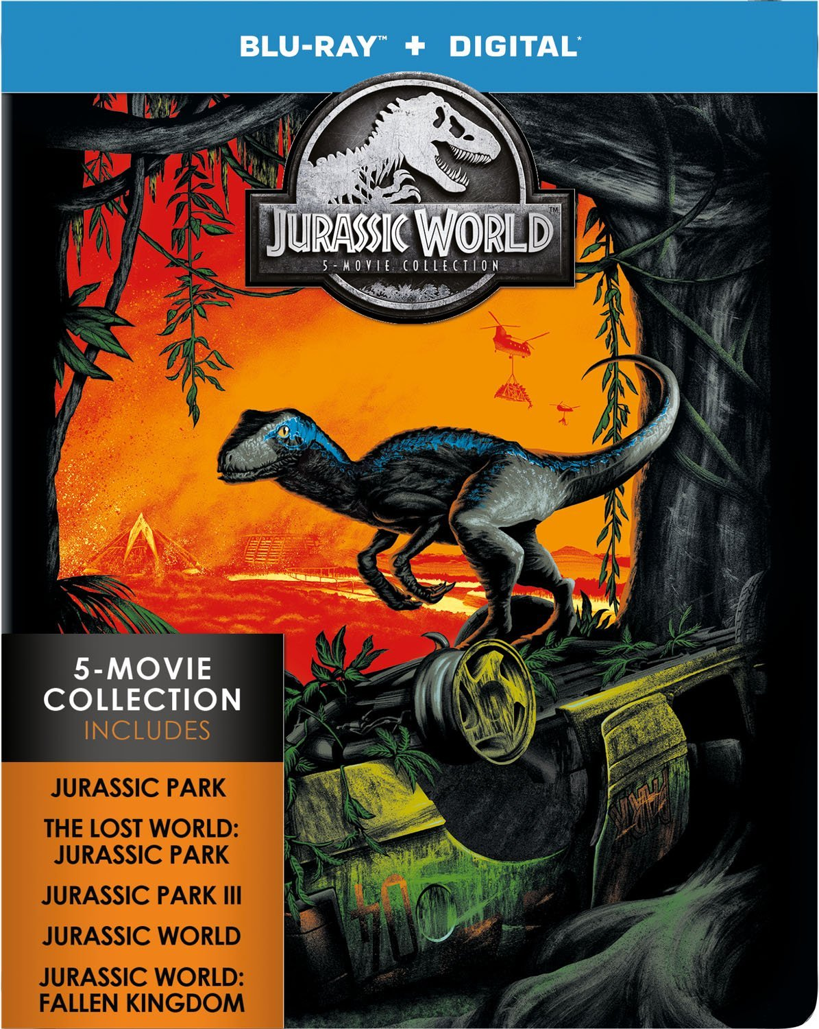 Blu-ray : Jurassic World: 5-movie Collection (Limited Edition, Boxed Set, Collector's Edition, Digital Copy, 5PC)