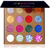 UCANBE Pro Glitter Eyeshadow Palette - Professional 16 Colors - Chunky & Fine Pressed Glitter Eye Shadow Powder Makeup…