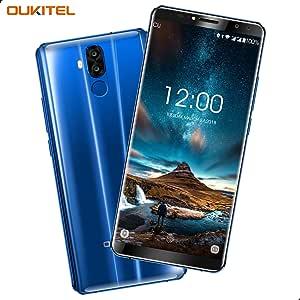Telefonos Moviles, OUKITEL K6 Smartphone 6 Pulgadas (18: 9 Relación Visión Completa) FHD+ Display Face ID 6300mAh Batería 6GB RAM 64GB ROM 21MP+8MP Cámara Trasera 13MP + 8MP Cámara Frontal Android 7.1