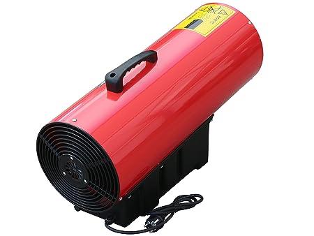 Schlauchbruchsicherung und Schlauch Rotek HG-50-230-TI im Set mit Druckregler Rotek Gas-Direktheizer mit 50 kW Heizleistung und integriertem Thermostat