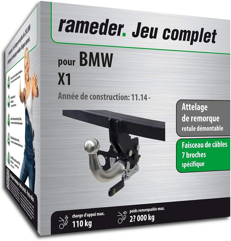 Attelage Amovible pour BMW X1 132881-14383-1-FR faisceau 7 broches