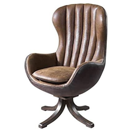 Astonishing Amazon Com Midcentury Modern Brown Sueded Swivel Chair Alphanode Cool Chair Designs And Ideas Alphanodeonline