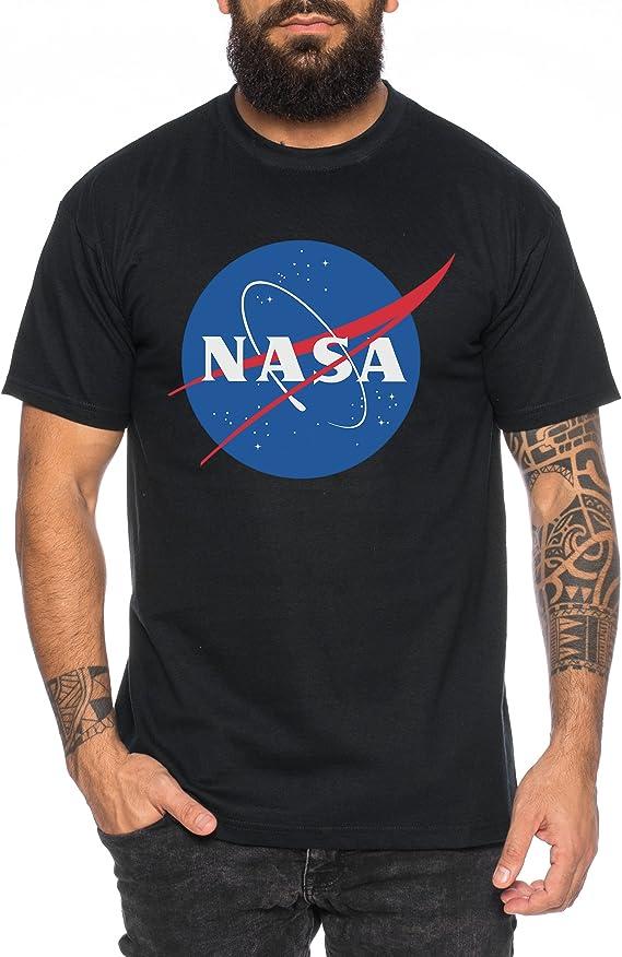 NASA Logo Camiseta de Hombre Astronaut Space Rocket Moon: Amazon.es: Ropa y accesorios