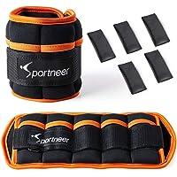 Sportneer Gewichtsmanchetten, verstelbare enkelgewichten set, voet-/polsgewicht manchetten, 1,0 kg tot 4,6 kg gewichten…
