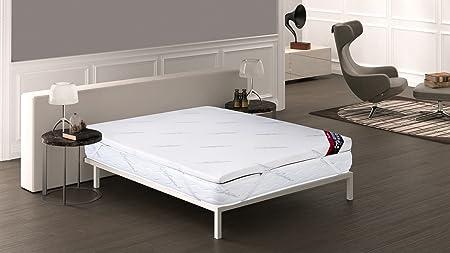 Cara inferior tejido Airfresh 3D transpirable,Viscoelástica 8cm,4 Elásticos de ajuste al colchón,Fab