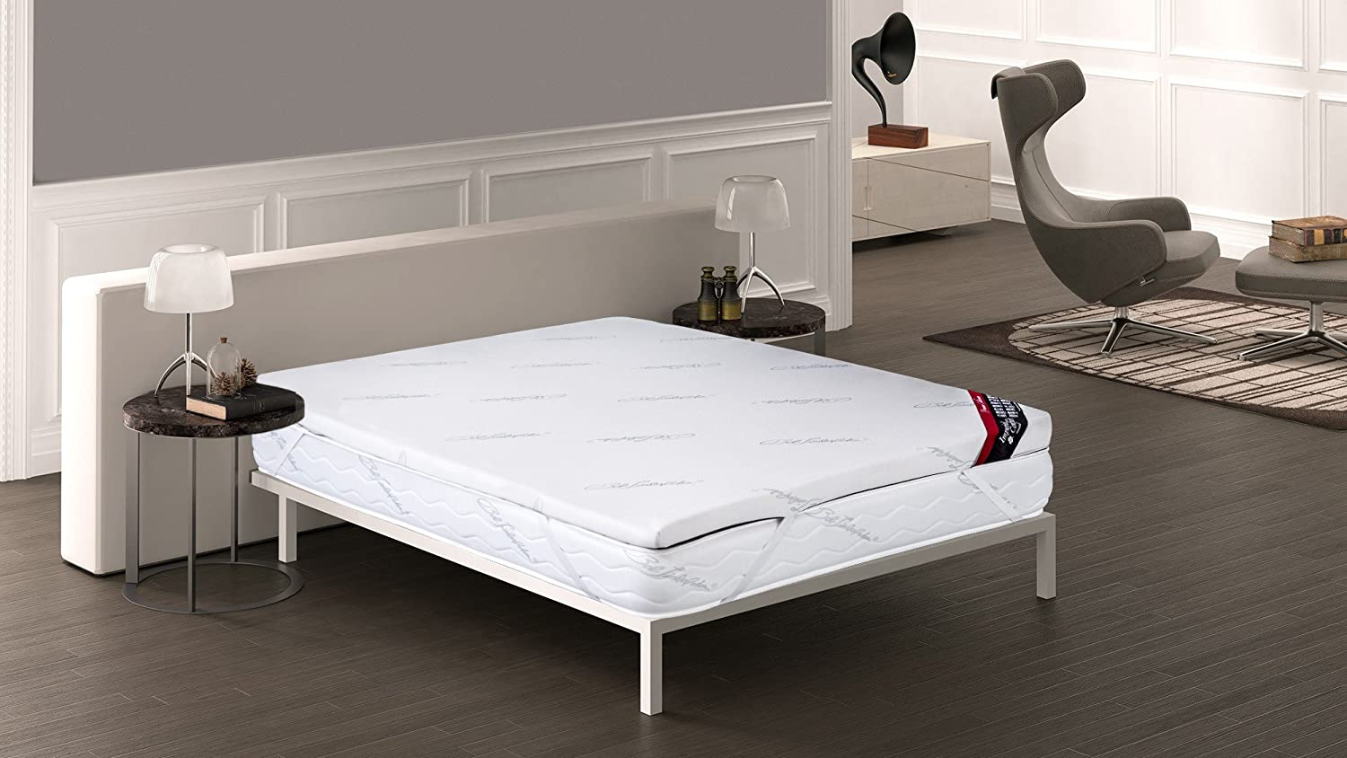 Imperial Confort - Topper viscoelástico - 90 x 180 cm - Grosor 5 cm: Amazon.es: Hogar