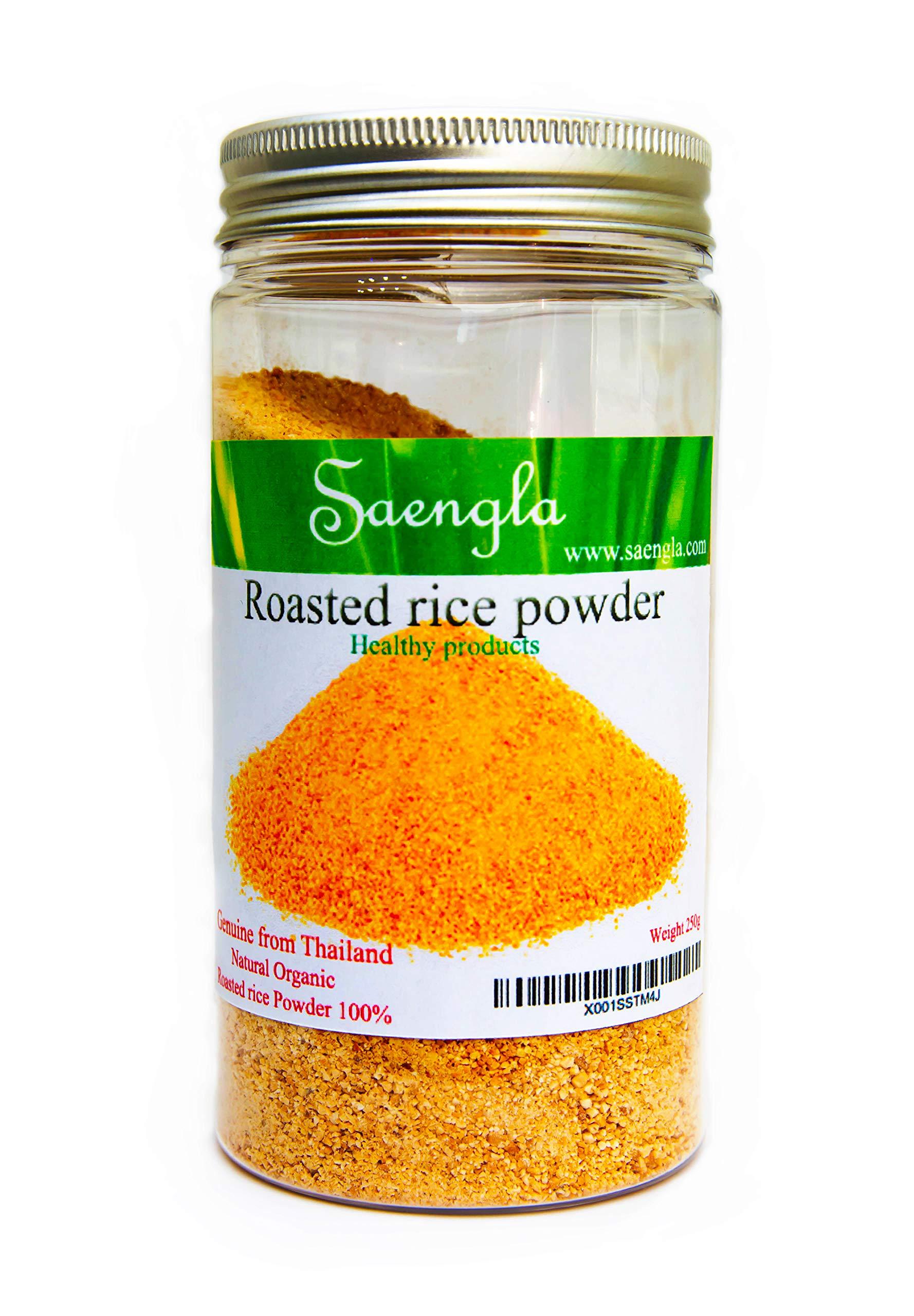 Saengla Roasted rice powder organic naturel. 300g