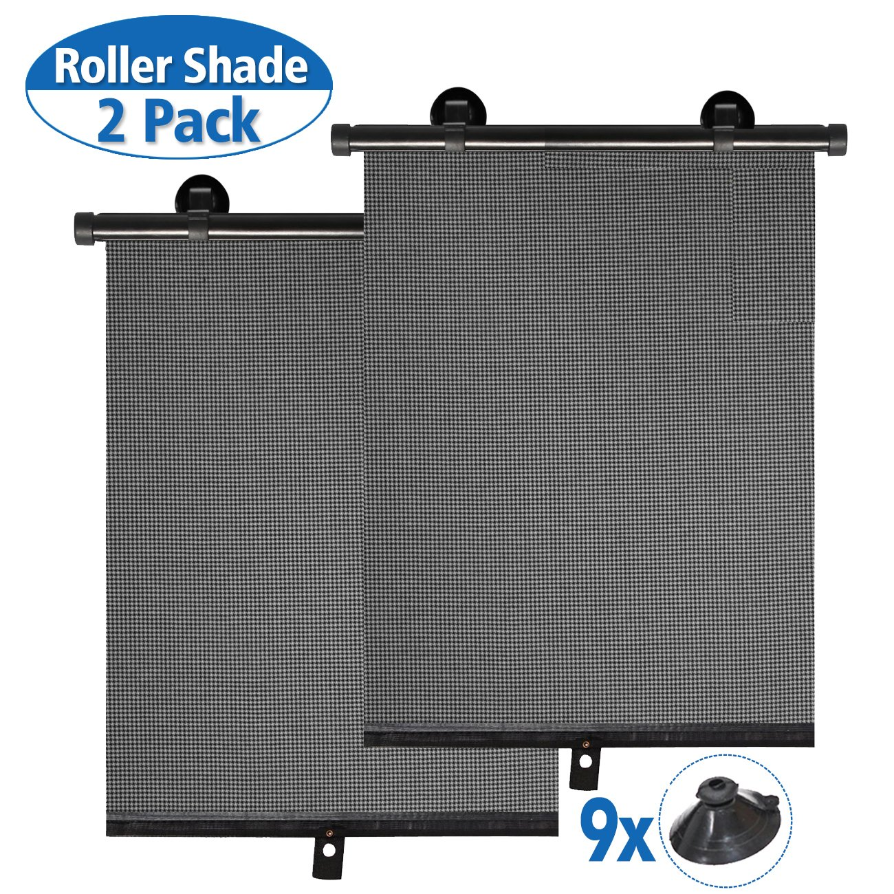 punada Car Sun Shade for Baby,Car Window Shade Roller Retractable Sunshade for Side Windows Windshield Sun Shade Blocks 98% of Harmful UV Rays