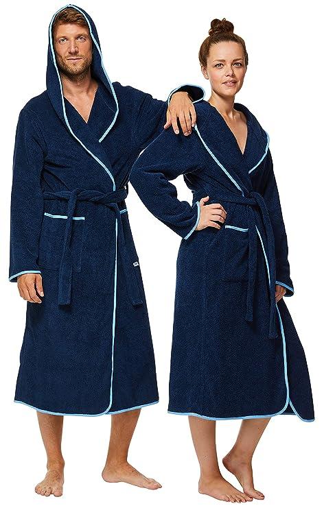 100/% Cotone Cappuccio SOWEL/® Accappatoio da Donna e da Uomo Extra Lungo Soffice Spugna Premium