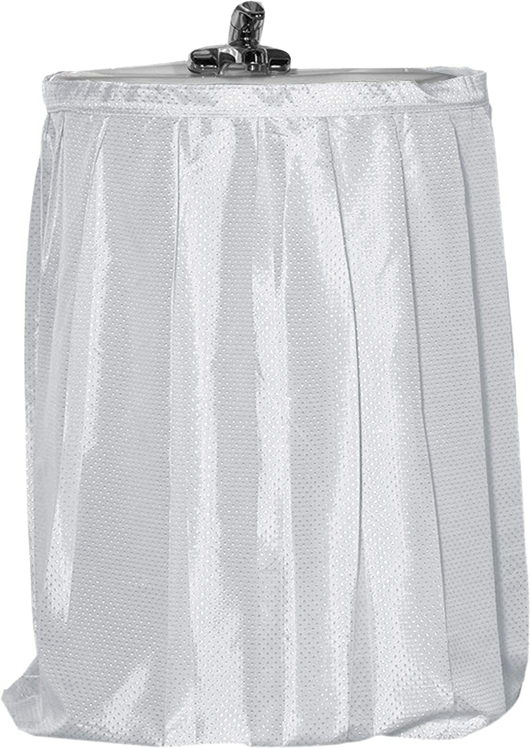 Carnation Home Fashions Hang Ease C Type Plastic Shower Curtain Hooks in Linen Sink Skirt, Grey