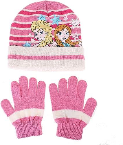 Disney Frozen Sisters Stars Set Sciarpa Cappello e Guanti Bambina