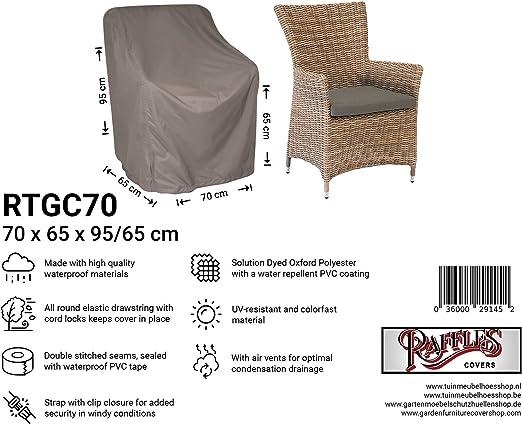 Raffles Covers NW-RTGC70 - Funda para Silla de jardín (70 x 65 cm, 95 x 65 cm, Cubierta para Mesa de jardín, Cubierta Exterior para Mesa, Funda para Mesa de Patio): Amazon.es: Jardín
