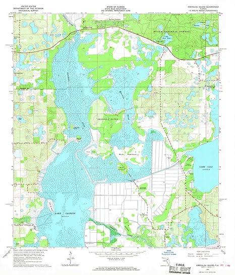 Amazon Com Yellowmaps Emeralda Island Fl Topo Map 1 24000 Scale