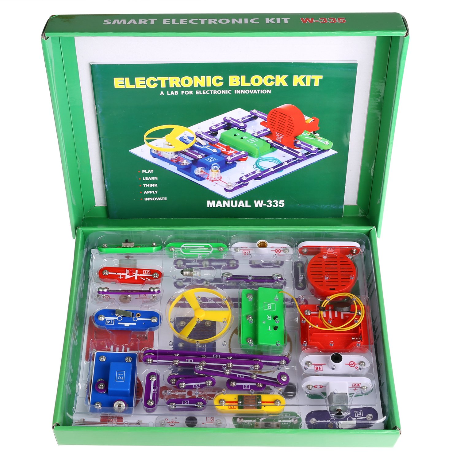 Smibie 335 Diy Circuit Experiments Toy Electronic Discovery Snap Extreme Sc 750 Review Educational Science Kit For Kids Toys Amazon Canada