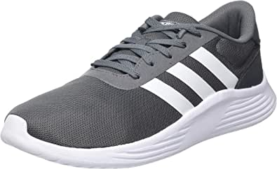 Adidas Lite Racer 2.0 Mesh-Upper Side-Stripe Low-Top Lace-Up Running Sneakers for Men