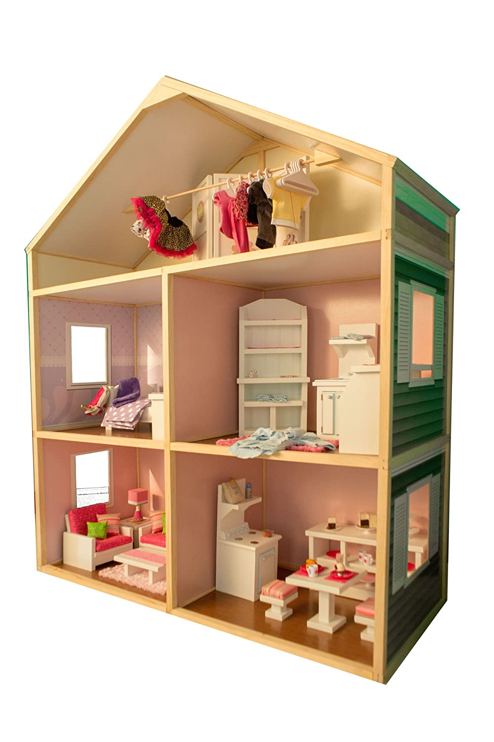 inexpensive dollhouse furniture. Amazon.com: My Girl\u0027s Dollhouse For 18\u0027\u0027 Dolls - Country French Style: Toys \u0026 Games Inexpensive Furniture