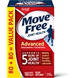 Glucosamine & Chondroitin Advanced Joint Health Supplement Tablets, Move Free (160 count in a bottle), Supports Mobility, Fle
