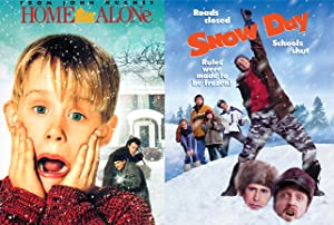 Home Alone & Snow Day Double Feature Winter Movie DVD Bundle Set