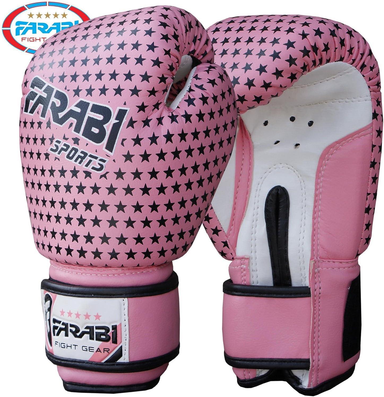 MMA Farabi ENFANTS Gants de boxe Muay Thai Gants de sac de frappe Junior Rose 170,1/gram