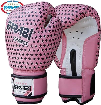 Farabi - Guantes de boxeo para niña, guantes de combate para MMA, muay thai. Color rosa. Peso: 113 g: Amazon.es: Deportes y aire libre