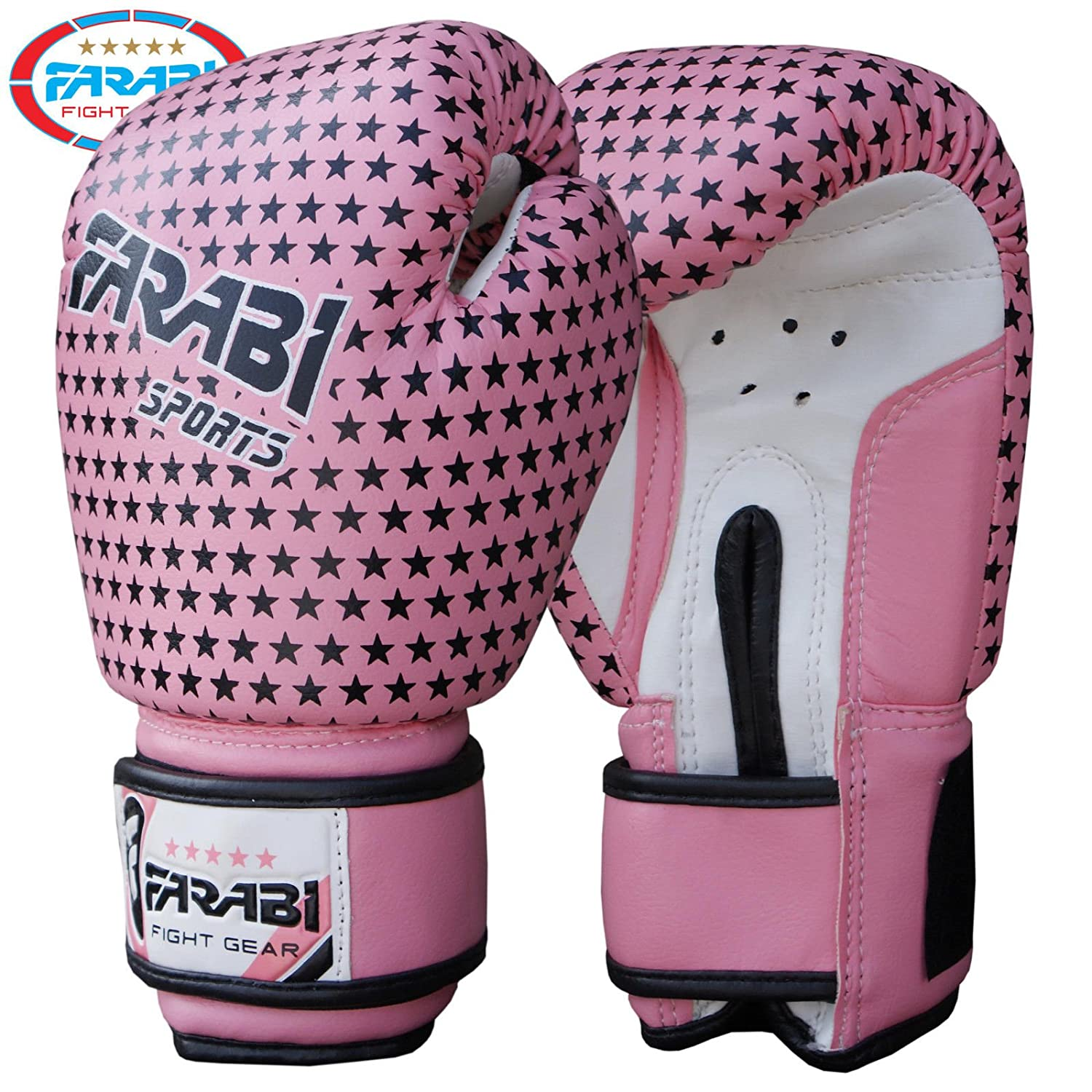 Niños guantes de boxeo MMA Muay Thai Junior punch bag Mitts rosa