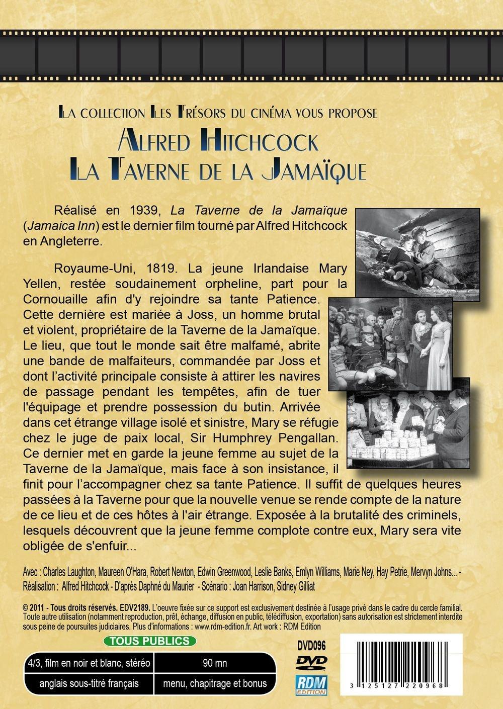 La taverne de la Jamaque [Francia] [DVD]: Amazon.es: Charles Laughton, Horace Hodges, Hay Petrie, Alfred Hitchcock: Cine y Series TV